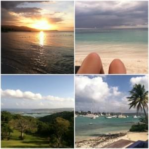 Jamaica landscape collage