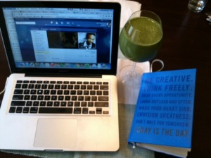 green smoothie and reggae