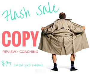 Flash Sale Copy Review